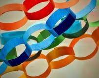 Бумажные цепи стоковое фото