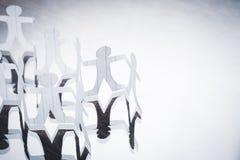 Бумажные цепные куклы Стоковое фото RF