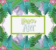 Бумажные шаржи искусства бесплатная иллюстрация