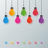 Бумажные электрические лампочки Стоковая Фотография RF
