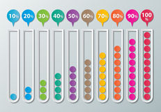 Бумажные infographic диаграммы Стоковое фото RF