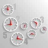 Бумажный вахта набирает, предпосылка технологии часов 3d графическая Стоковые Изображения
