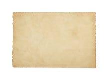 Бумажный винтажный пергамент на белизне Стоковое фото RF