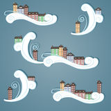 Бумажный город в небе. Стоковые Изображения RF