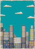Бумажный город в типе grunge Стоковая Фотография