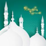 Бумажный график исламской мечети Стоковые Фото