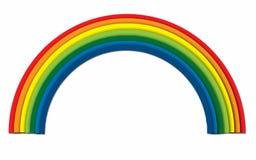 Бумажный дизайн радуги искусства на изолированной белой иллюстрации Стоковое Изображение