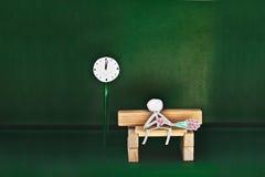 Бумажный ждать человека Стоковые Изображения RF