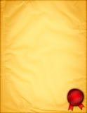 бумажный желтый цвет сбора винограда Стоковые Изображения