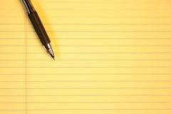 бумажный желтый цвет Стоковая Фотография