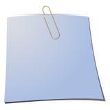 Бумажный зажим и бумажное примечание Стоковое Изображение
