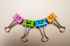 бумажный зажим счастливый Стоковое Изображение RF