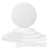 Бумажный знак зодиака Scorpio - символ o астрологического и гороскопа Стоковая Фотография