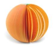 Бумажный изолированный апельсин примечания ручки Стоковое Фото