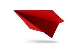 Бумажный изолированный самолет Стоковое Изображение RF