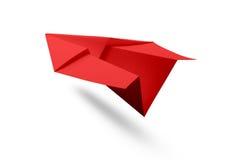 Бумажный изолированный самолет Стоковое Изображение