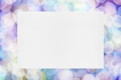 Бумажный лист на праздничной предпосылке Стоковая Фотография