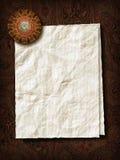 Бумажный лист с пресс-папье Стоковые Изображения