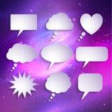 Бумажный комплект вектора пузырей речи Стоковое Изображение