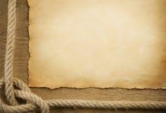 бумажный корабль веревочек пергамента Стоковое фото RF