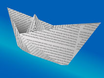 бумажный корабль Стоковые Изображения RF
