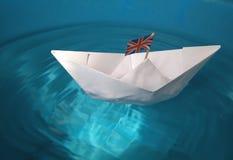 бумажный корабль Стоковая Фотография RF