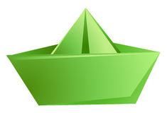 бумажный корабль Стоковые Фото