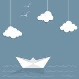 бумажный корабль Стоковая Фотография