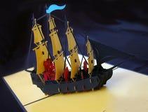 бумажный корабль Стоковое Фото