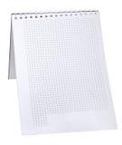 Бумажный лист изолированный на белой предпосылке. Стоковая Фотография RF