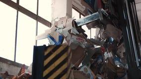 Бумажный отход в свалке мусора, Debica, Польша, 24/06/2019 видеоматериал
