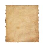 Бумажный пергамент год сбора винограда на белизне Стоковое Изображение