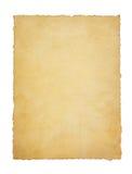 Бумажный пергамент год сбора винограда на белизне Стоковые Фото
