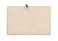 Бумажный пергамент год сбора винограда на белизне Стоковые Изображения RF