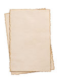Бумажный пергамент сбора винограда на белизне Стоковое Изображение