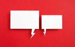 Бумажный пузырь речи Стоковые Изображения