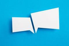 Бумажный пузырь речи Стоковые Фото