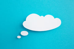 Бумажный пузырь речи Стоковые Изображения RF