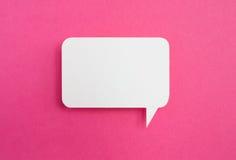 Бумажный пузырь речи Стоковая Фотография RF