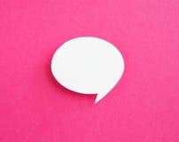 Бумажный пузырь речи Стоковое фото RF