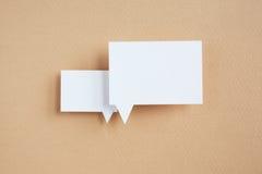 Бумажный пузырь речи Стоковые Фотографии RF