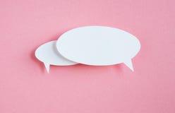 Бумажный пузырь речи Стоковая Фотография