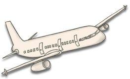 Бумажный самолет с путем клиппирования Стоковое Изображение