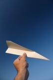 Бумажный самолет Стоковые Изображения
