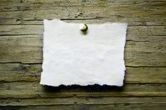 бумажный сбор винограда деревянный Стоковое фото RF