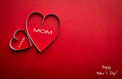 Бумажный символ формы сердца на день матерей Стоковое Фото