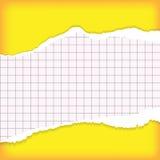 бумажный сорванный лист Стоковое Изображение