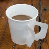 Бумажный стаканчик горячего кофе Стоковое фото RF