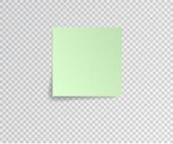 Бумажный стикер с тенью на прозрачной предпосылке также вектор иллюстрации притяжки corel Стоковая Фотография