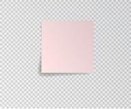 Бумажный стикер с тенью на прозрачной предпосылке также вектор иллюстрации притяжки corel Стоковое фото RF